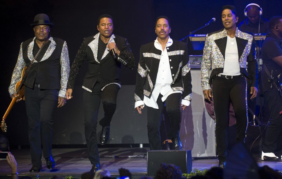 "The Jacksons perform ""tribute concert"" in Brazil for brother Michael Jackson"