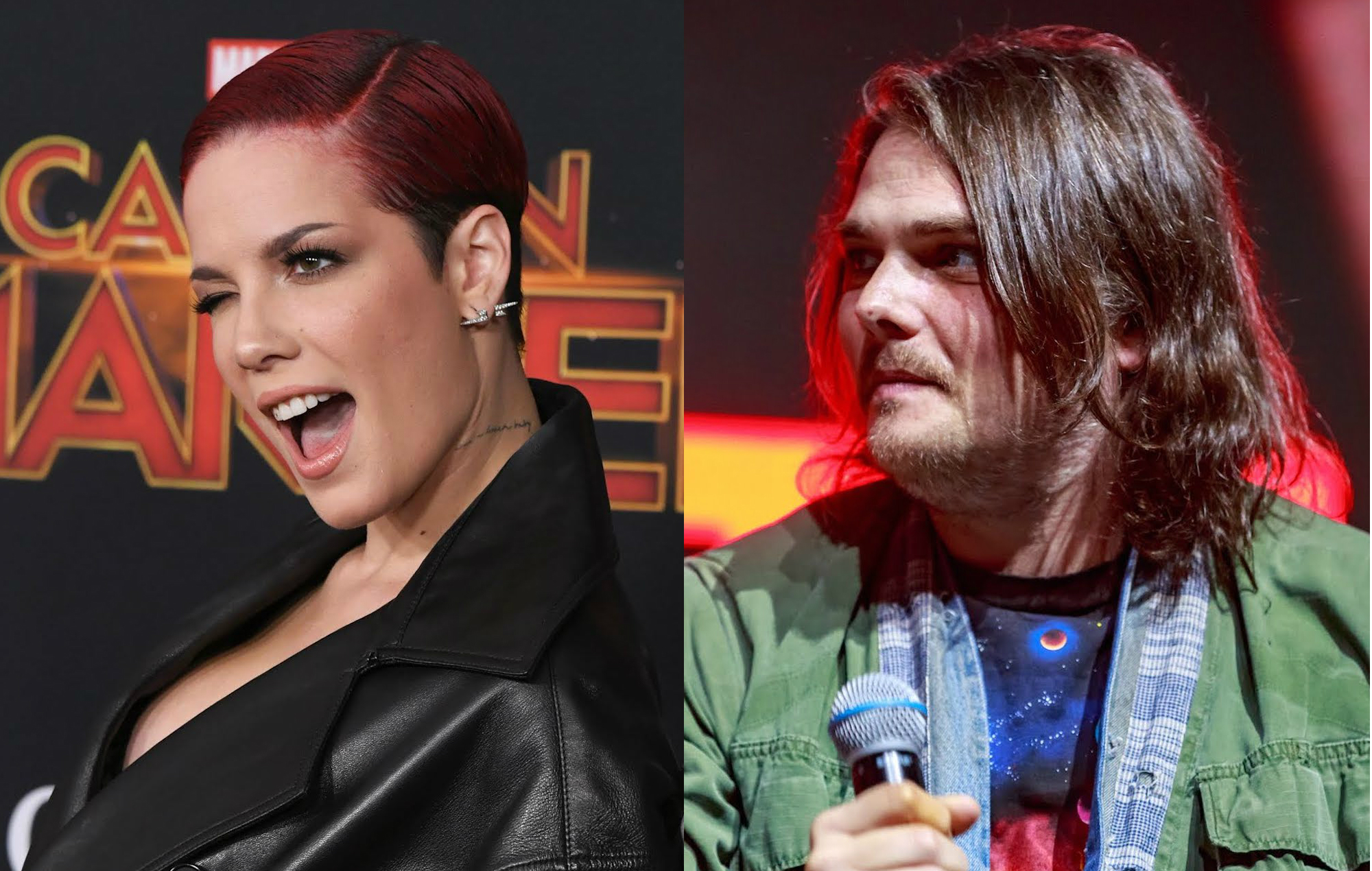 Halsey blames Gerard Way after being called out by fans of ...