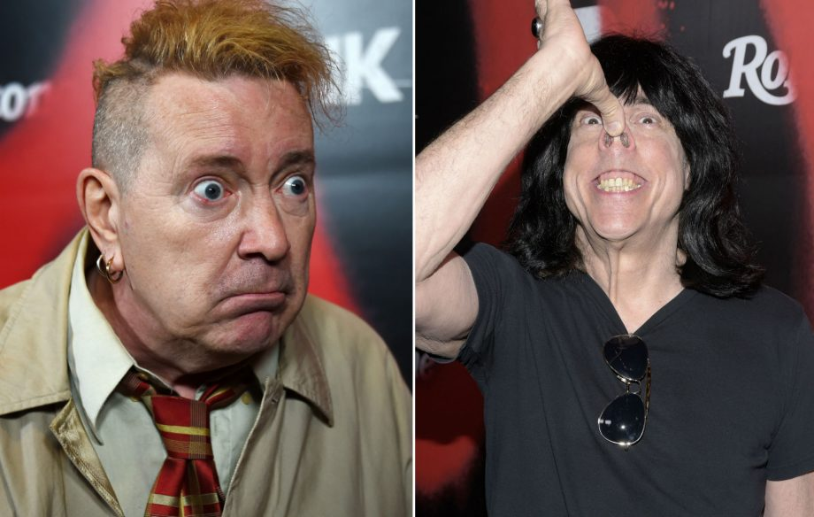 """This daft f***ing c**t was into drugs!"" Watch Johnny Rotten and Marky Ramone nearly come to blows at punk rock panel"