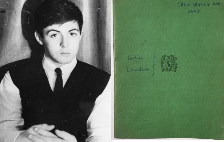 Image result for paul mccartney school book