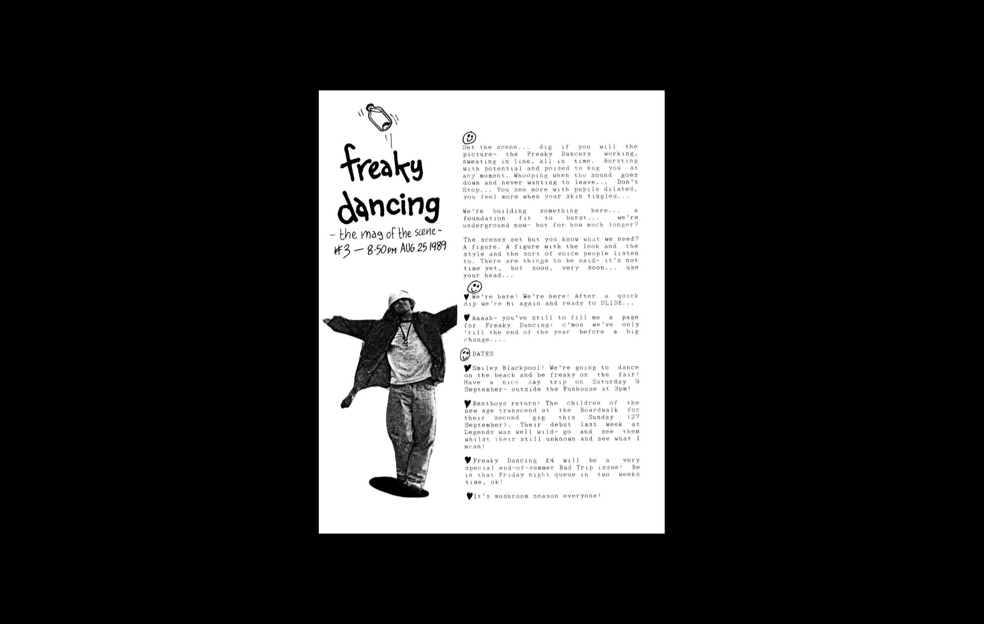 Behind the scenes of the Manchester Hacienda fanzine, Freaky