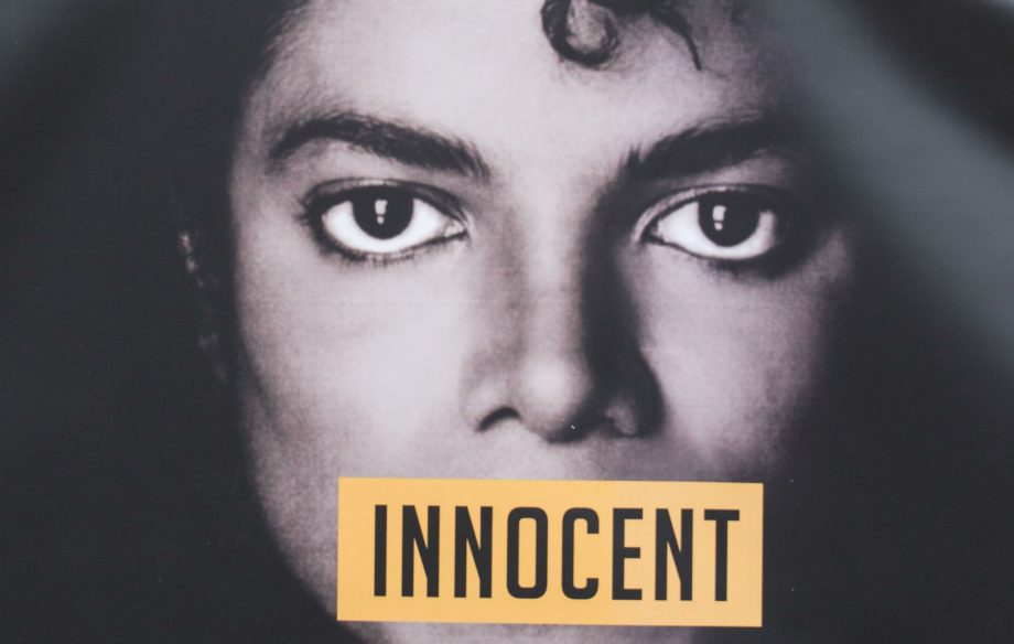 Michael Jackson 'innocent' poster