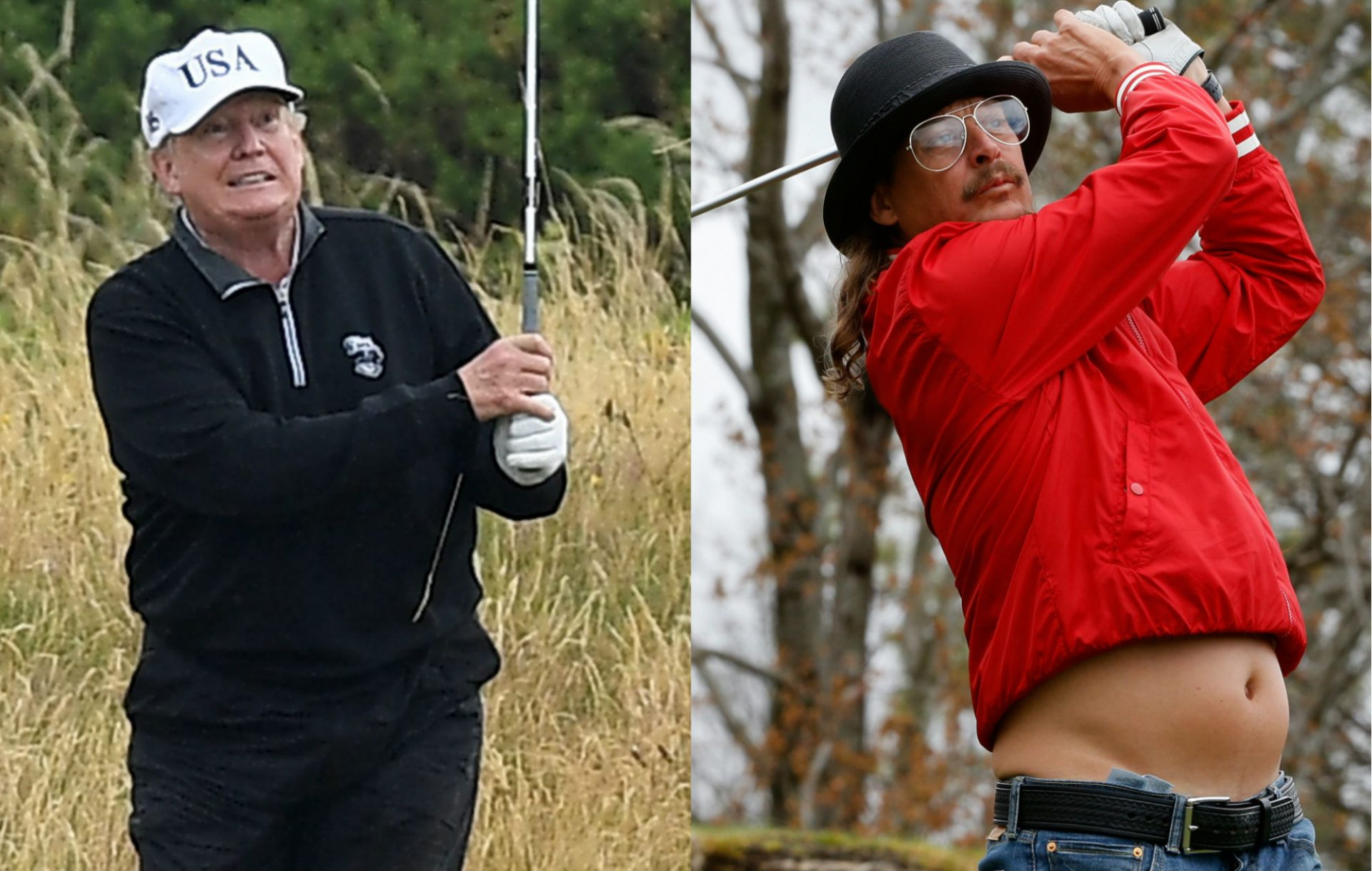 Donald Trump and Kid Rock went golfing together