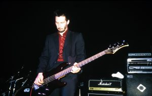 Keanu Reeves performing on bass with Dogstar
