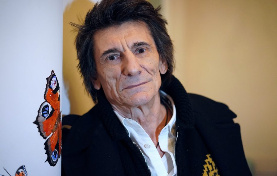 Ronnie Wood unveils Picasso-inspired painting of The Rolling Stones
