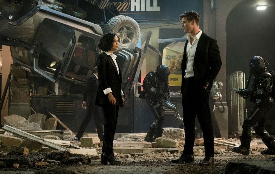 3d28be0ee2ab Watch Chris Hemsworth and Tessa Thompson team up in new 'Men in ...