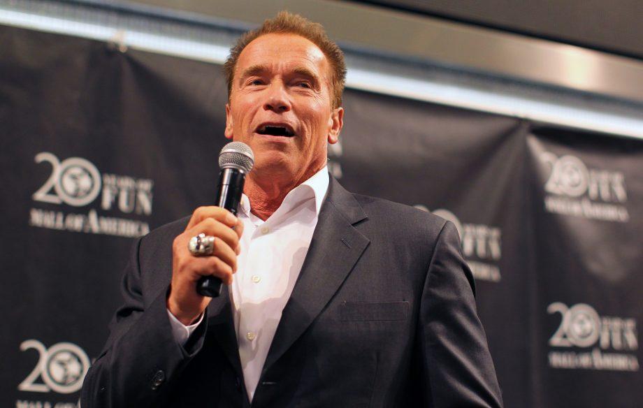 Watch Arnold Schwarzenegger make his rap debut as he lays ...