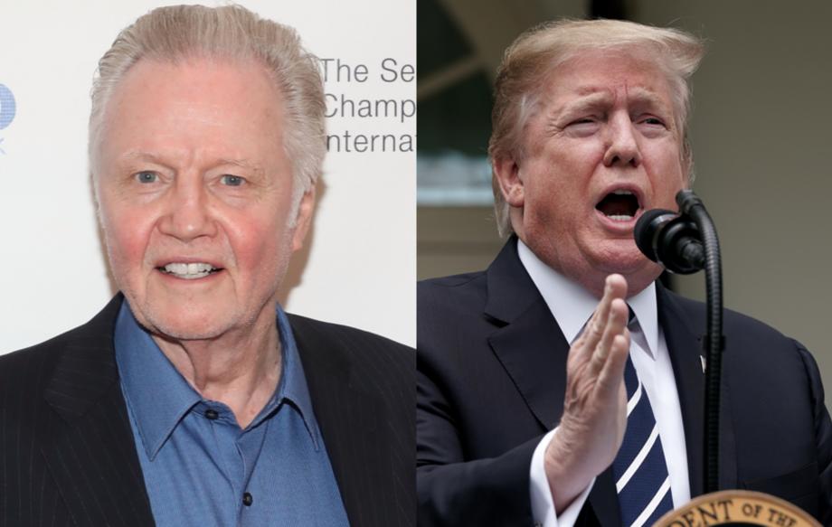 "Jon Voight proclaims Donald Trump the ""greatest president since Abraham Lincoln"""