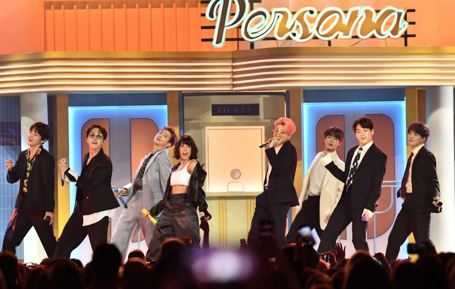 Watch BTS perform 'Boy With Luv' with Halsey for the first