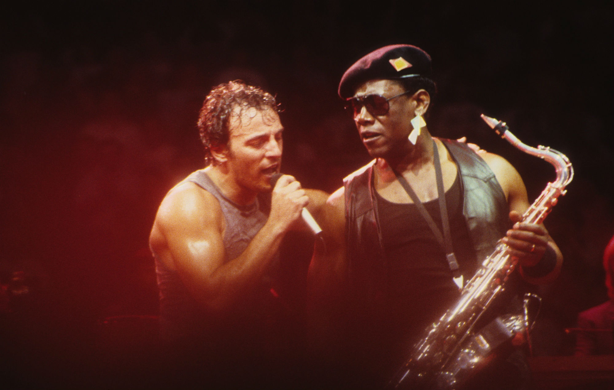 Bruce Springsteen S Late Saxophone Player Clarence Clemons