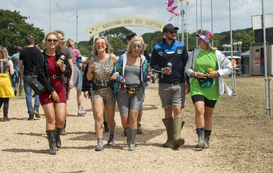 Weather conditions improve at the Isle of Wight Festival after tornado hits island