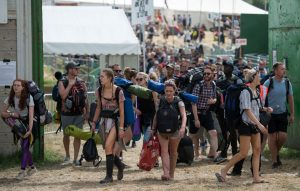 Glastonbury-goers will supposedly walk nearly 30 miles over the entire weekend, and phone home three times a day
