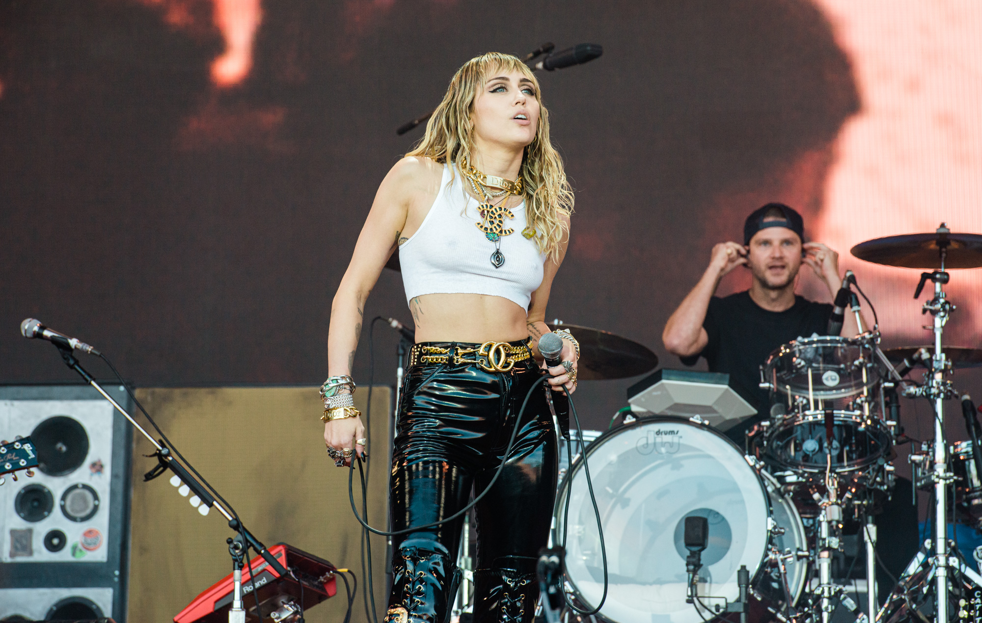 Miley Cyrus Reinvents Herself As A Rockstar At Glastonbury