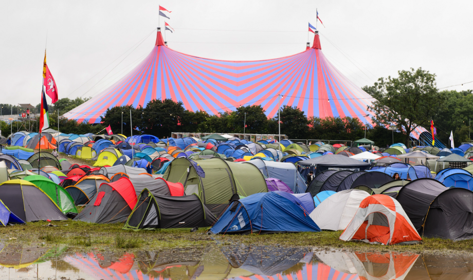 You can get a free hotel shower after Glastonbury