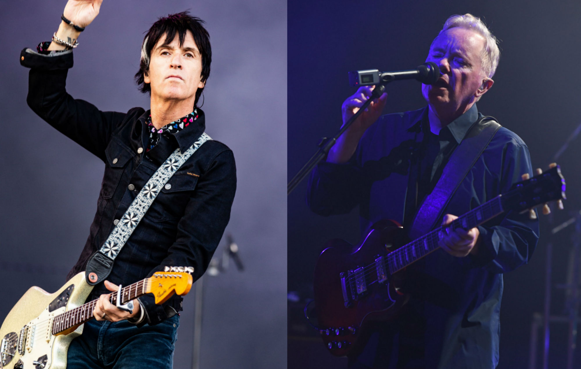 Watch Johnny Marr and New Order's Bernard Sumner reunite to perform Electronic's 'Get The Message'