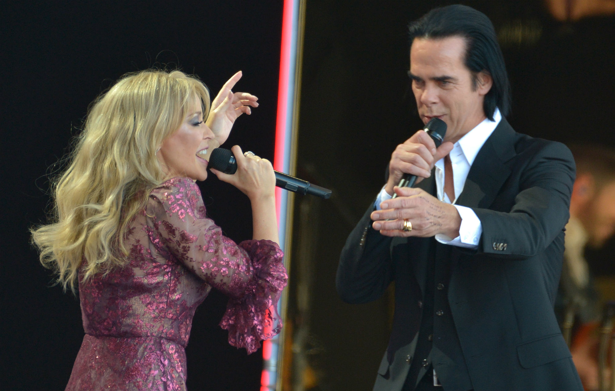 Nick Cave And Chris Martin Join Kylie Minogue Onstage At