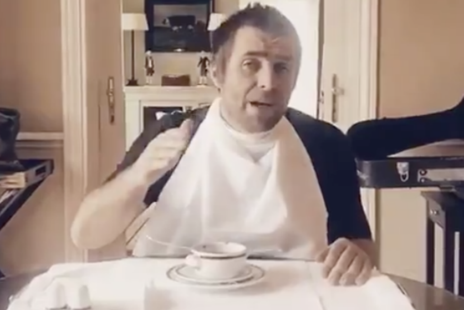 Watch Liam Gallagher Eat Soup With A Fork In His Most
