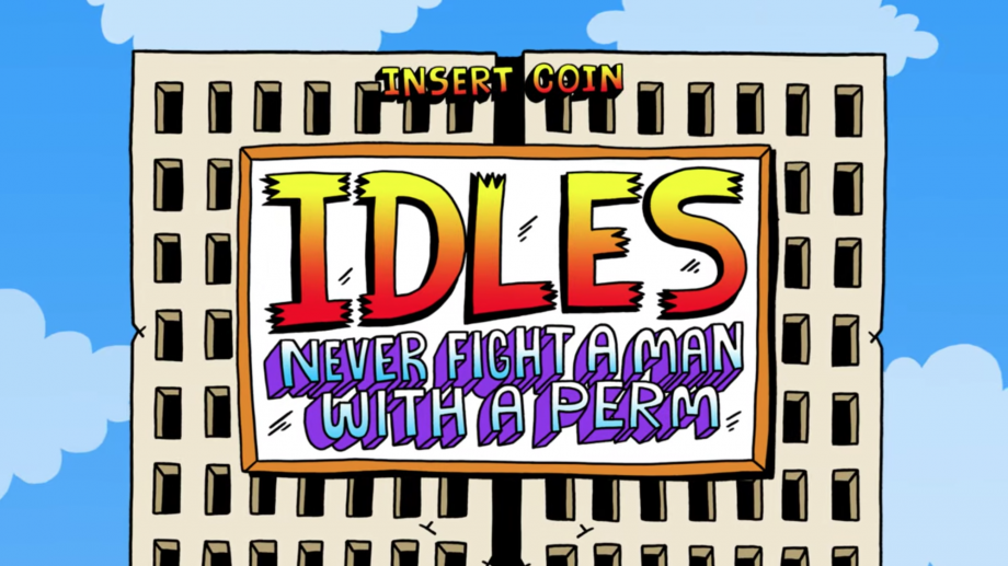 Watch IDLES become retro arcade game characters in new video for 'Never Fight A Man With A Perm'