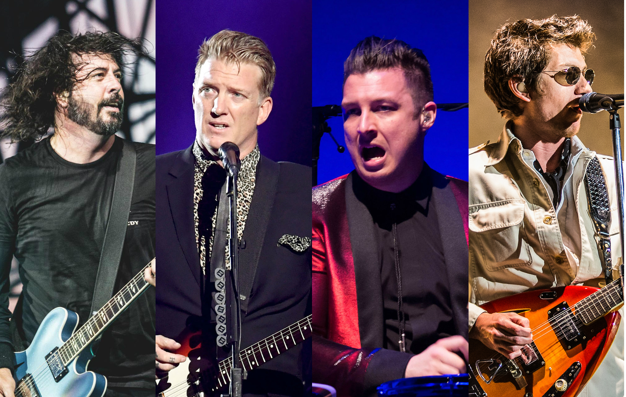 Dave Grohl Josh Homme Alex Turner And Matt Helders All