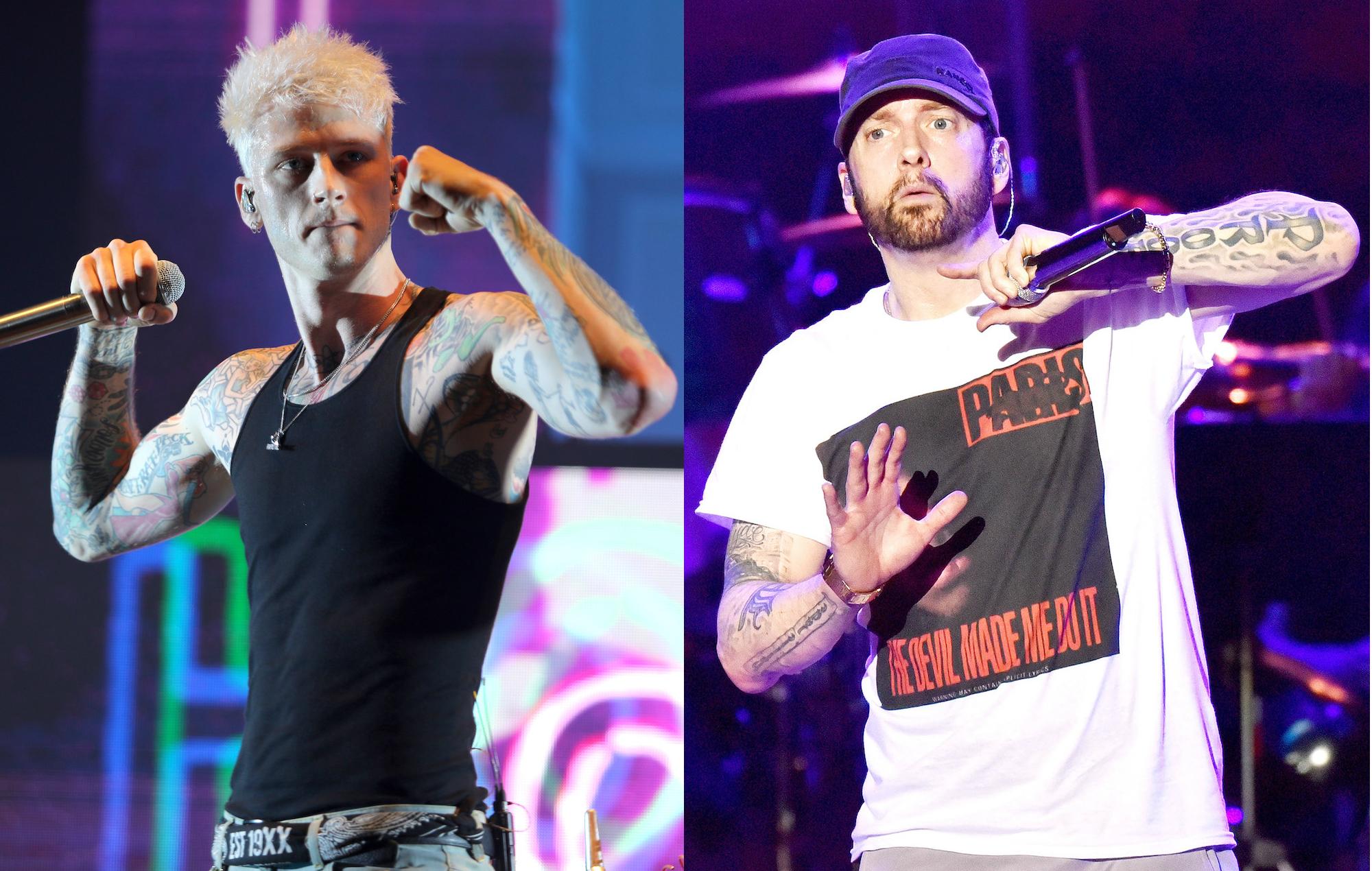 Machine Gun Kelly Alludes Eminem Beef New Song