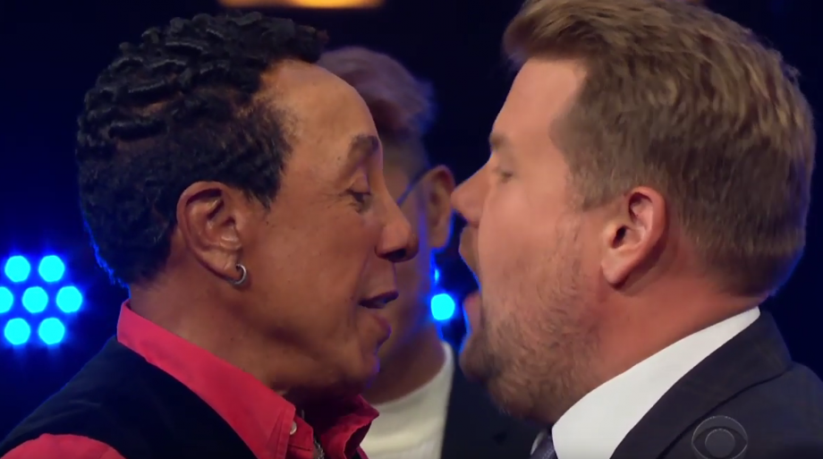Watch James Corden and Smokey Robinson battle it out with epic soul riff-off