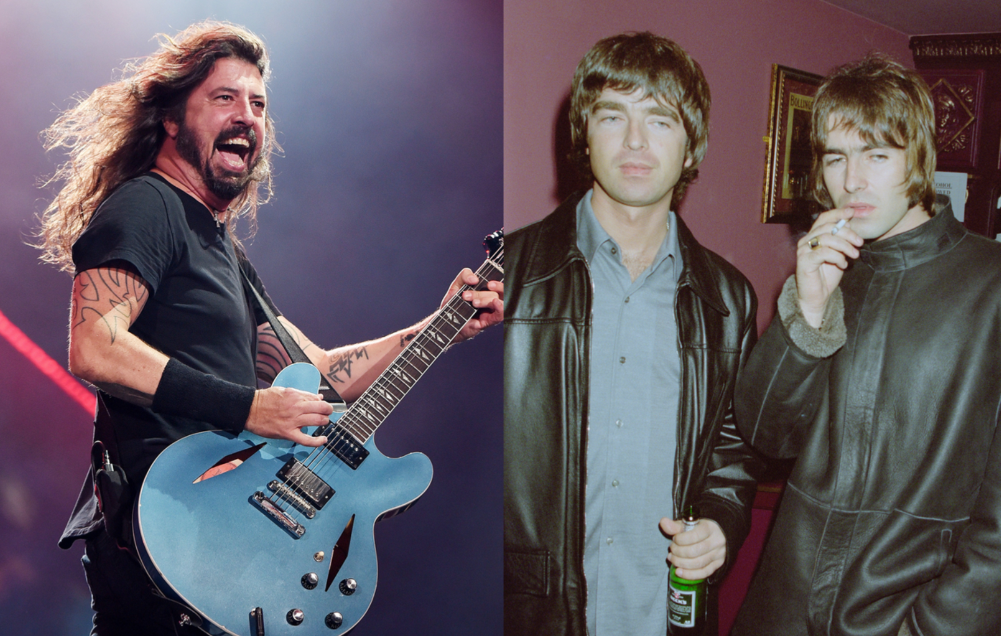 Foo Fighters want to start a petition to get Oasis back together
