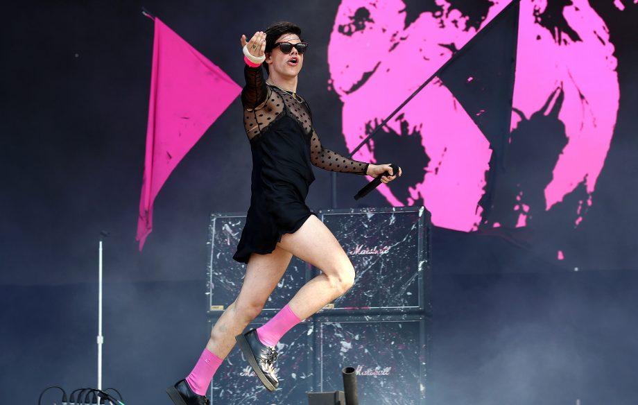 Watch Yungblud and Machine Gun Kelly smash through collaboration 'I Think I'm Okay' at Reading Festival