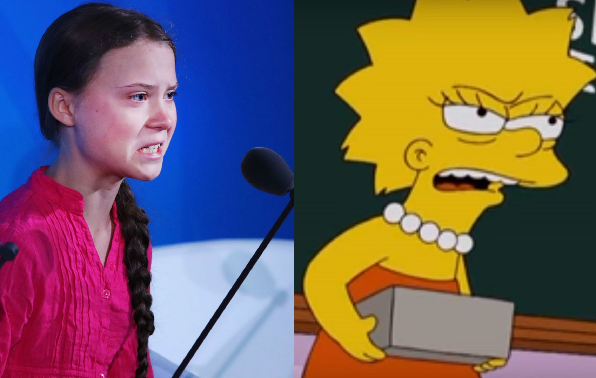 'The Simpsons' predicted Greta Thunberg's climate change speech in 2007 - NME