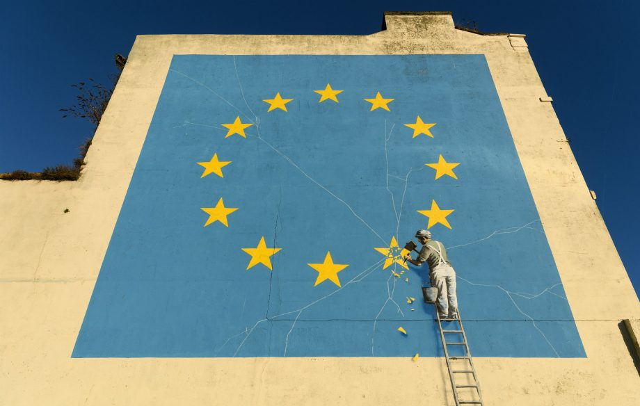 Banksy responds after Brexit artwork is painted over in Dover