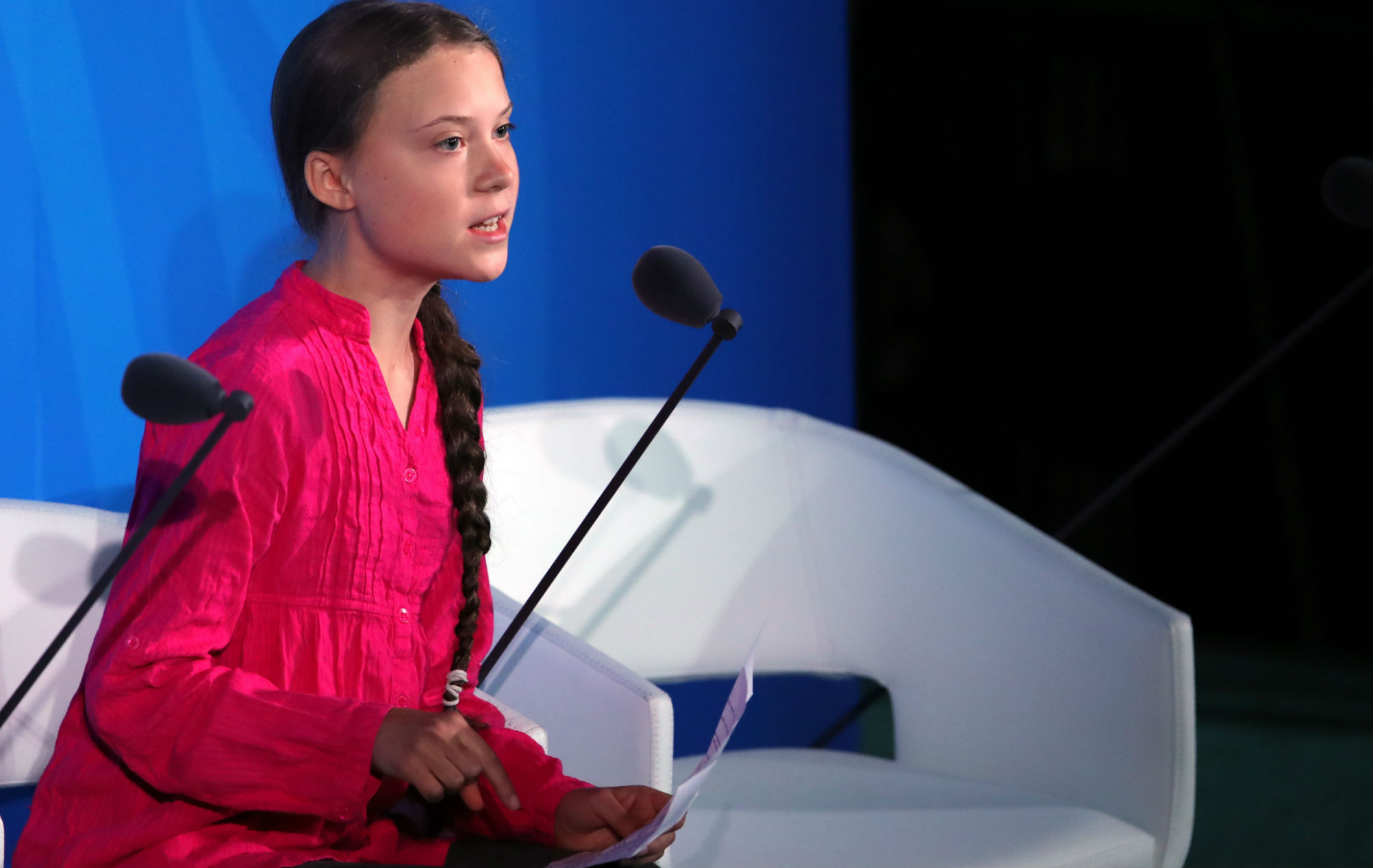 Here's Greta Thunberg's powerful UN speech mashed up with Fatboy Slim and Swedish death metal