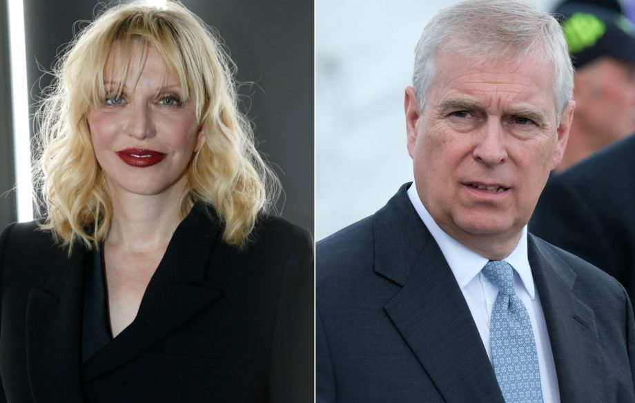 "Courtney Love denies claims that Prince Andrew arrived at her LA home ""looking for a good time"""