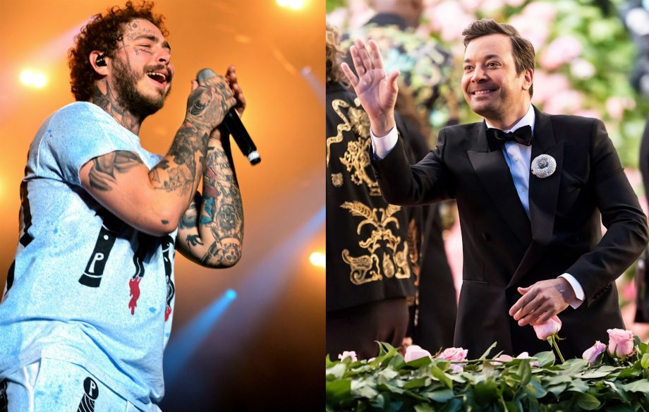 Watch Post Malone and Jimmy Fallon become knights at Medieval Times