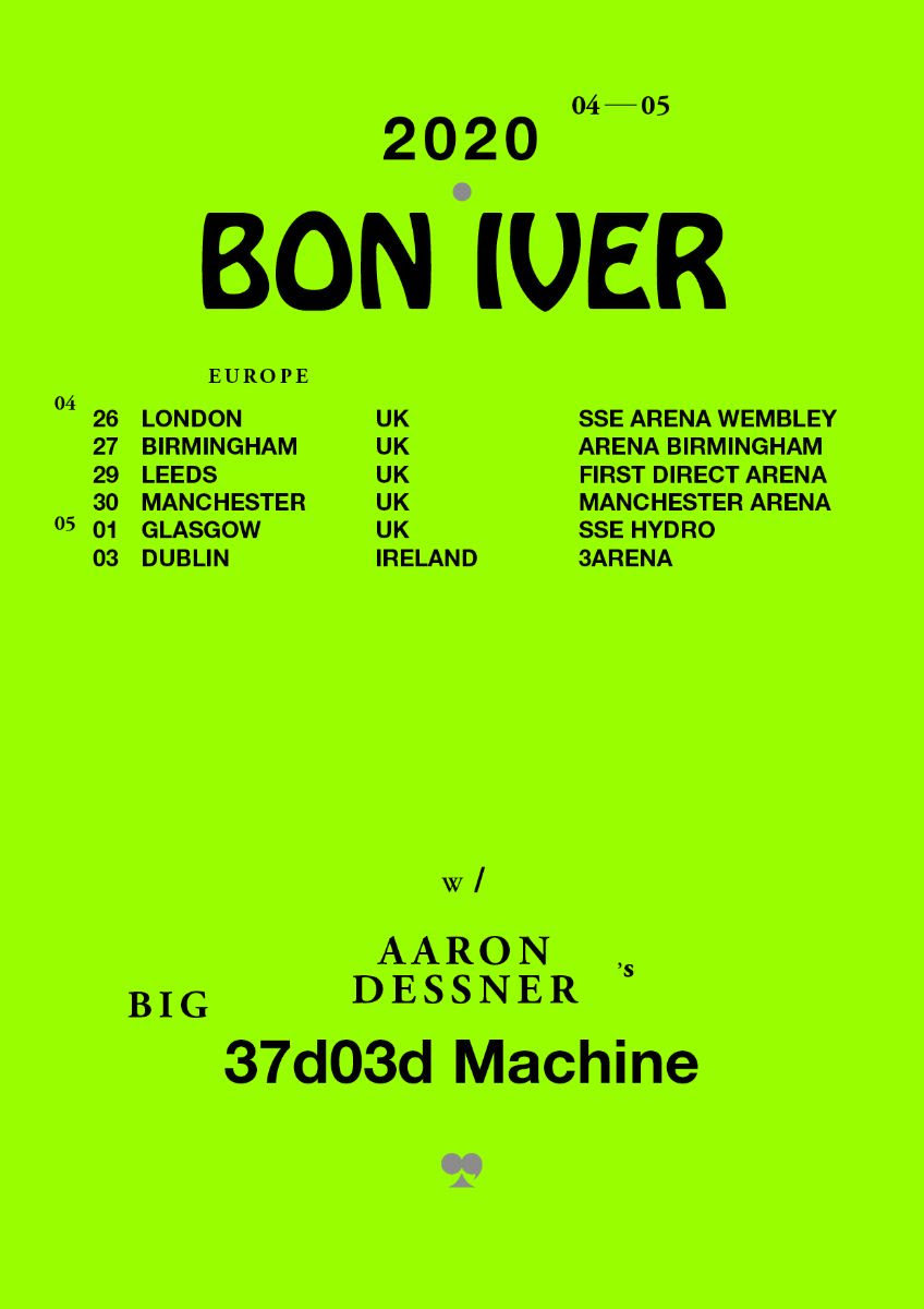Bon Iver announce UK and European tour for 2020