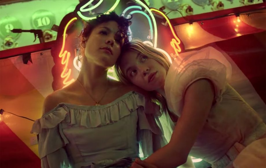 Halsey heads to the carnival with 'Euphoria' star Sydney Sweeney in 'Graveyard' music video