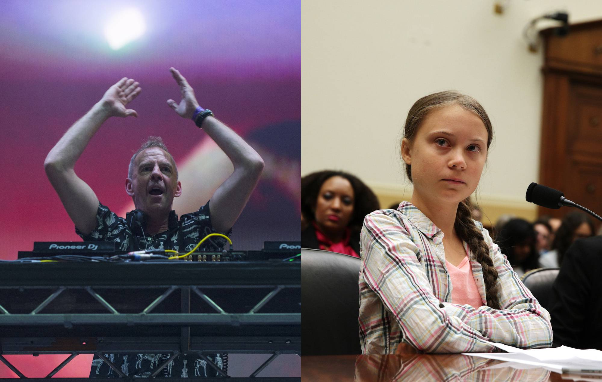 Fatboy Slim played his Greta Thunberg 'Right Here, Right Now' mashup live, and it's amazing