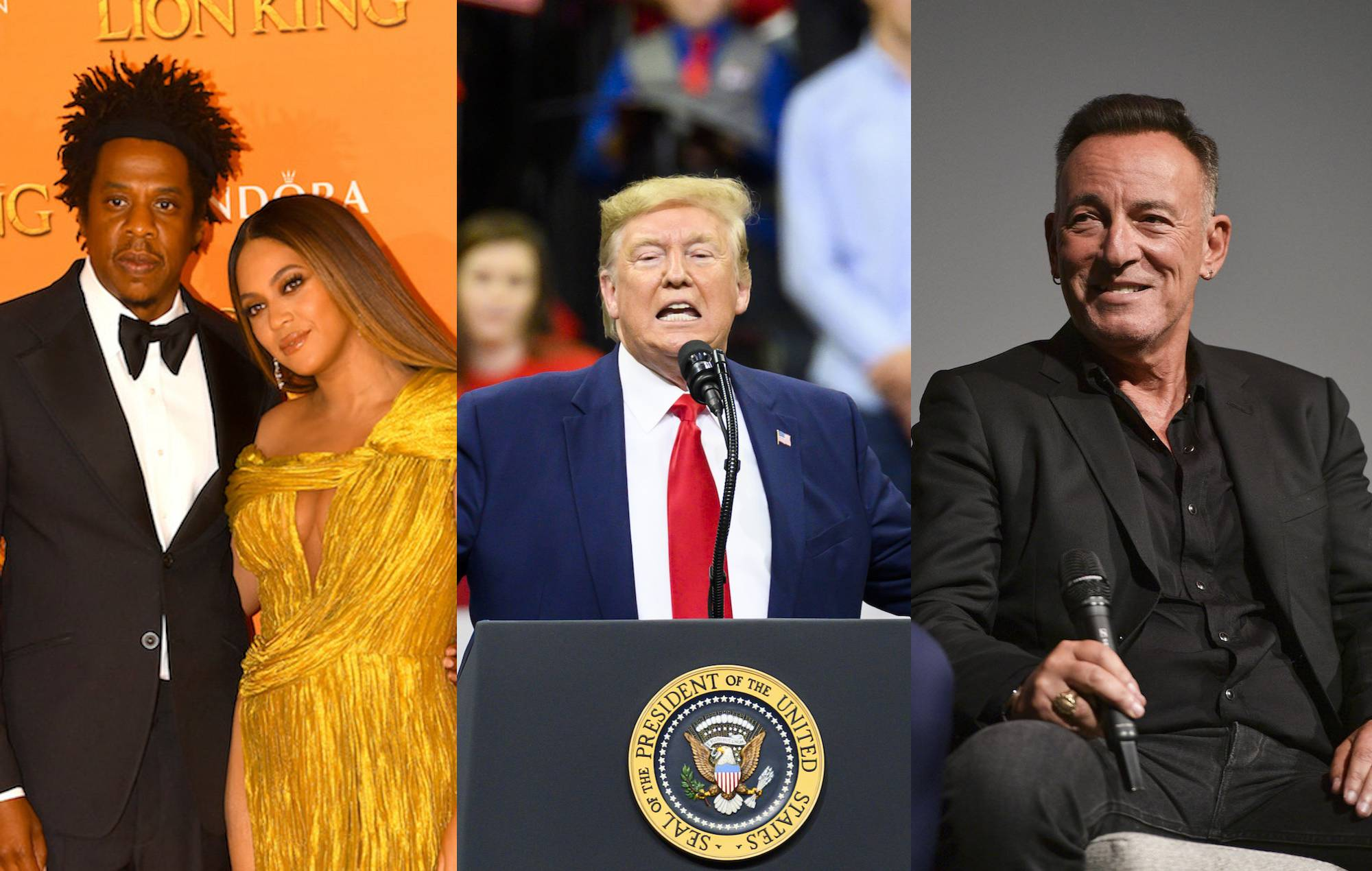Donald Trump blasts Beyoncé, Jay-Z and Bruce Springsteen at Minneapolis rally