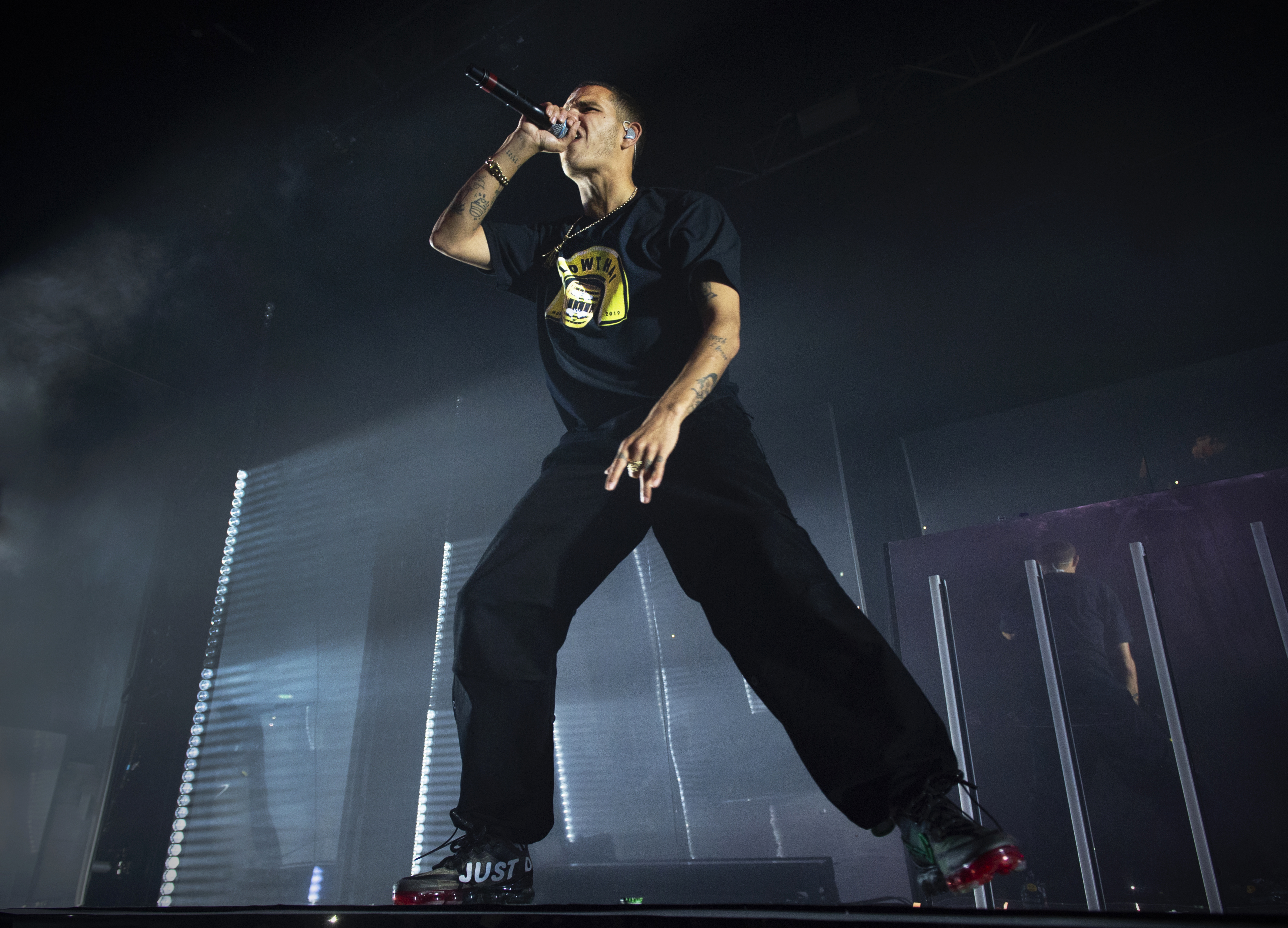 Pyro, water pistols, Skepta – slowthai's Brixton Academy show is a statement of arena-sized intent