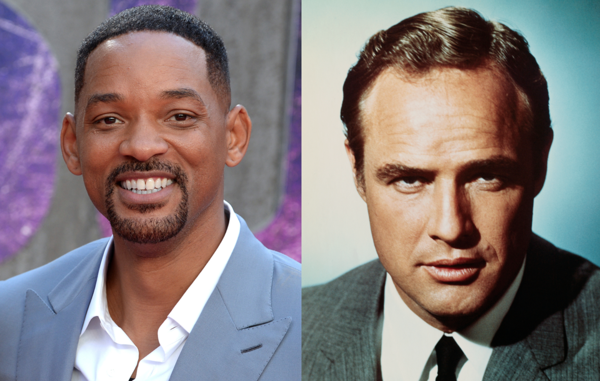 Will Smith is thinking about the idea of starring in a movie with a young Marlon Brando