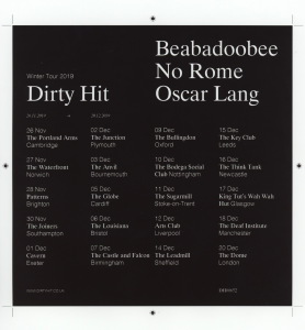 Dirty Hit UK label tour Nov and Dec 2019