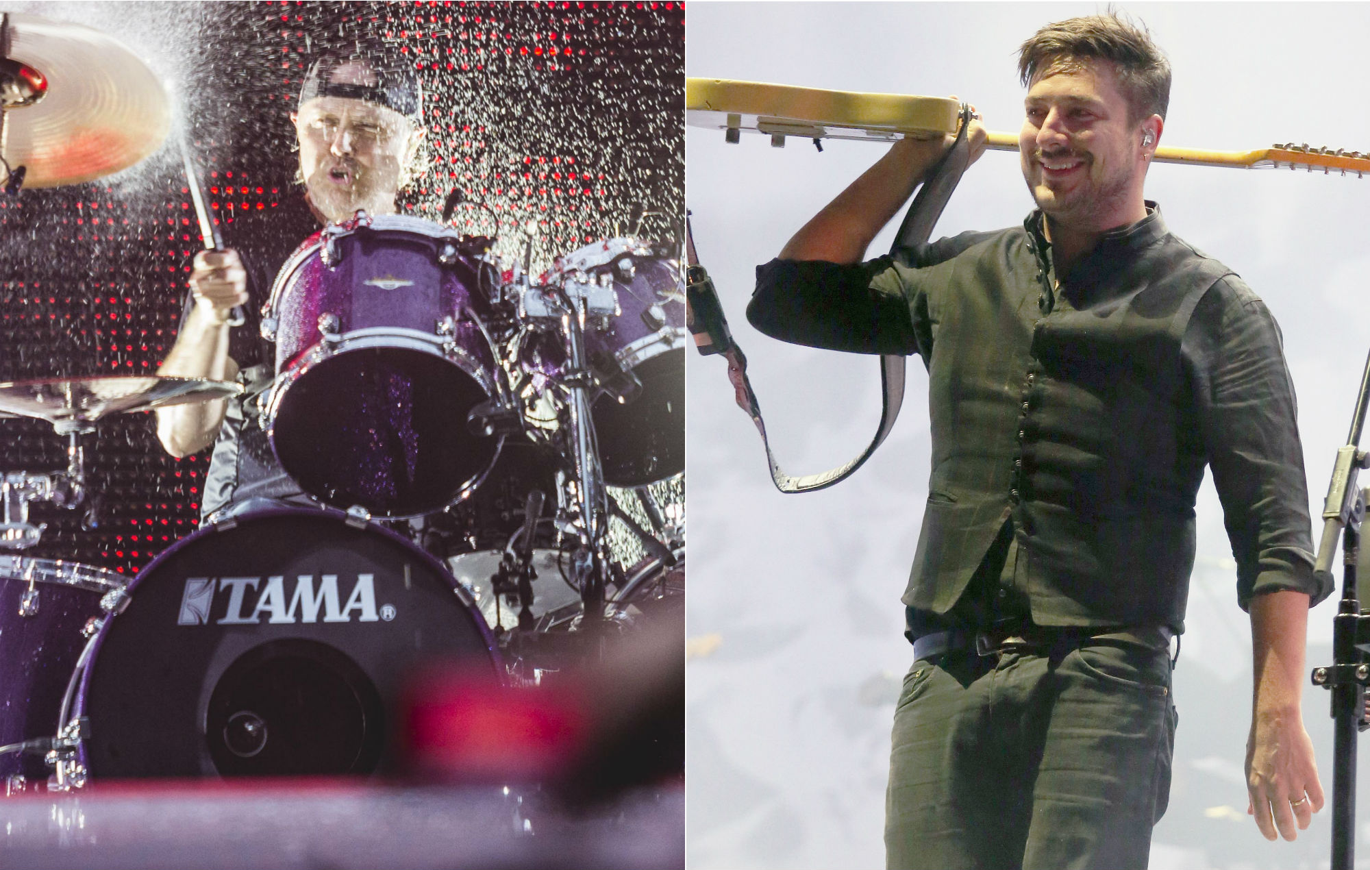 Watch Metallica's Lars Ulrich join Mumford & Sons on stage to perform 'The Wolf'