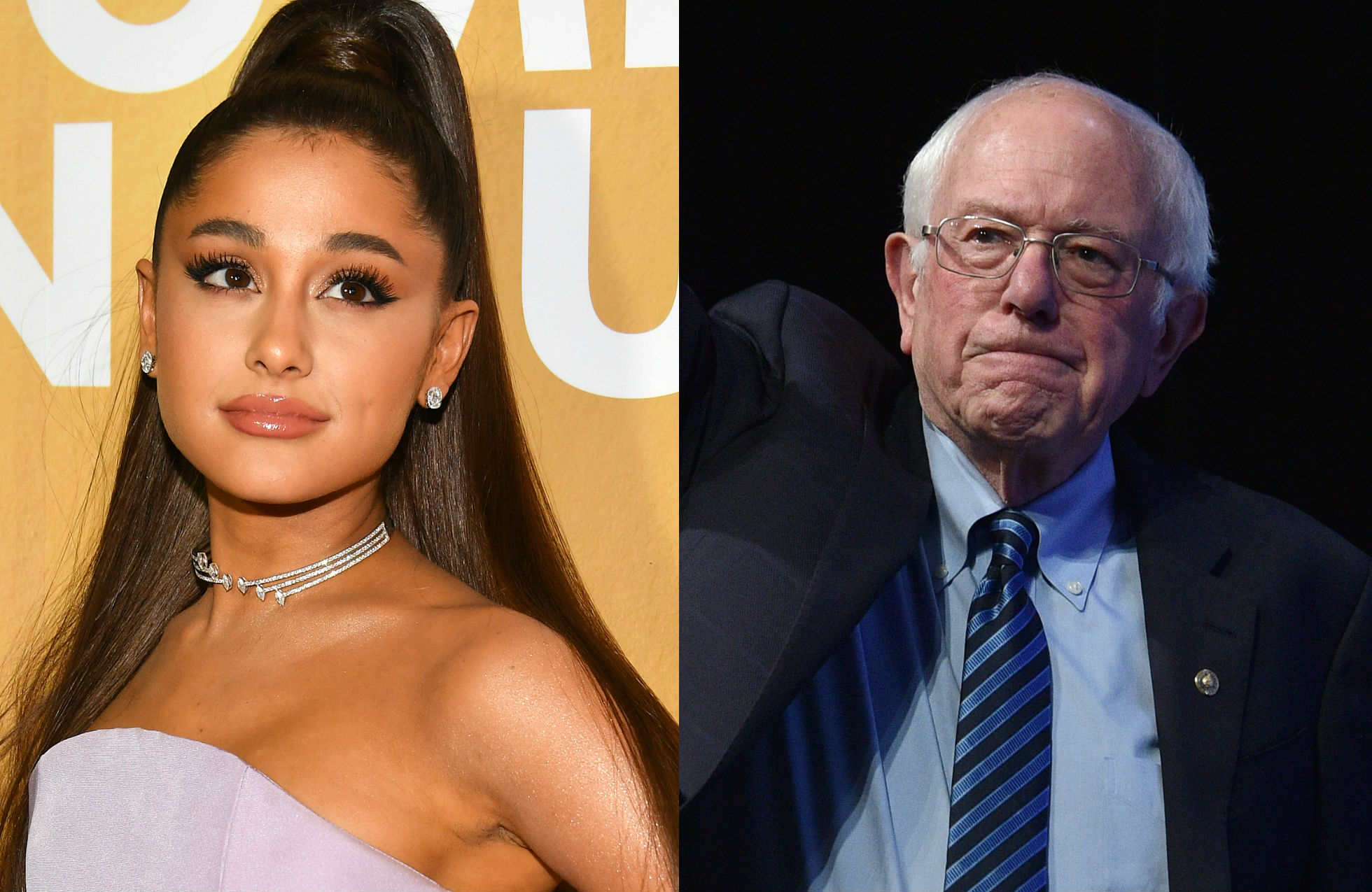 Bernie Sanders attends Ariana Grande concert – and Ariana approves