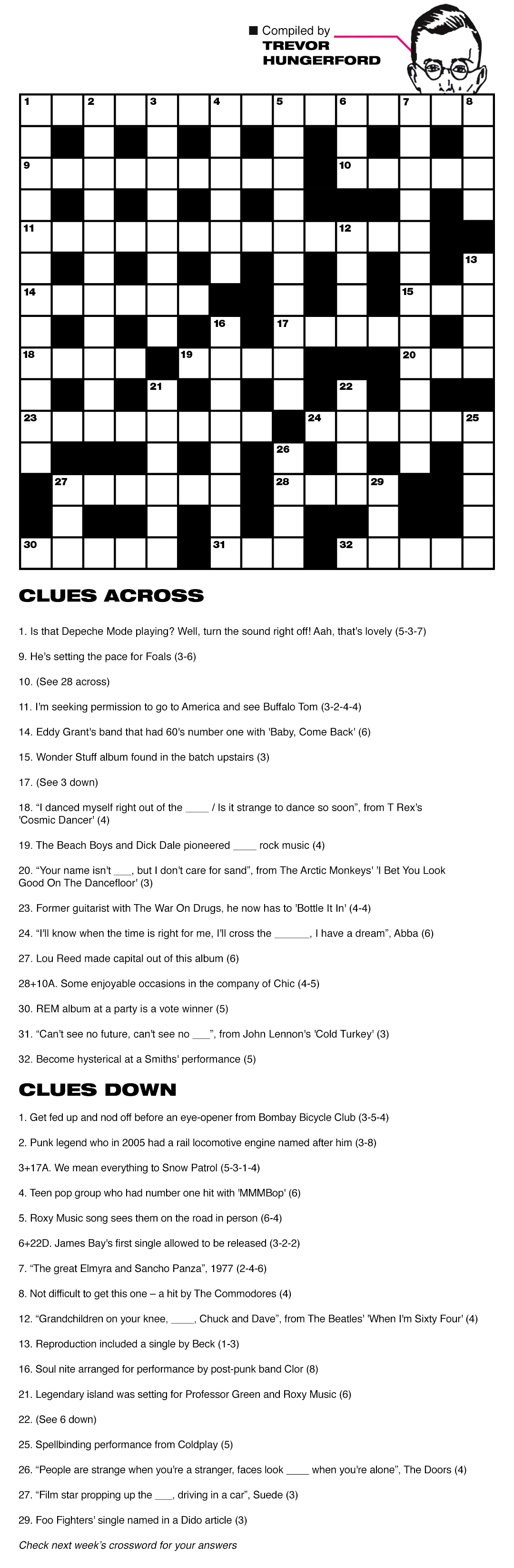 Crossword week 29