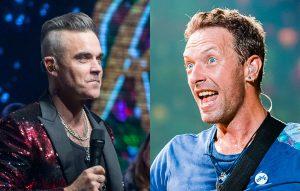 Robbie Williams Chris Martin Coldplay