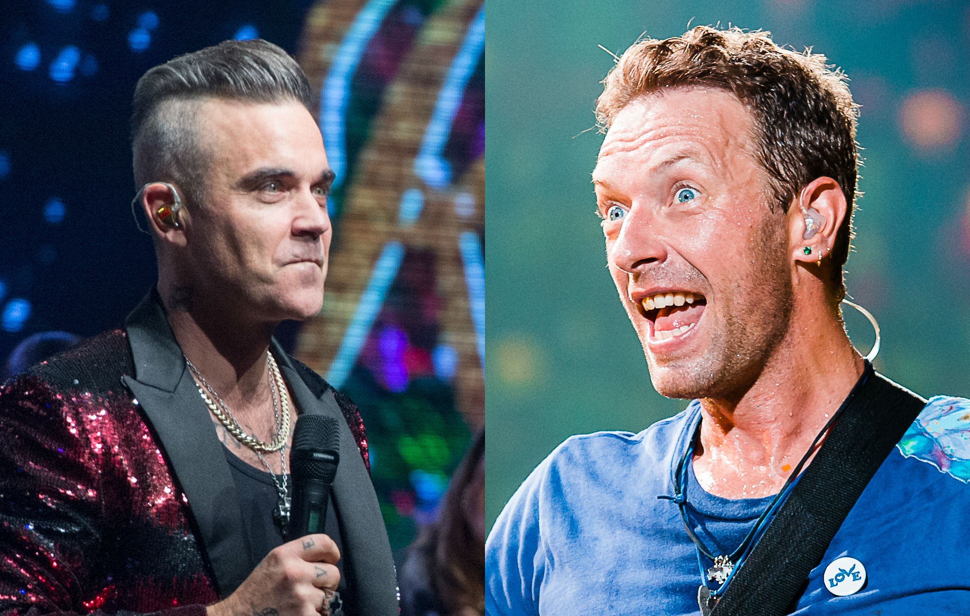 """Robbie Williams says he'll be """"crushed"""" if Coldplay beat him to Number One"""