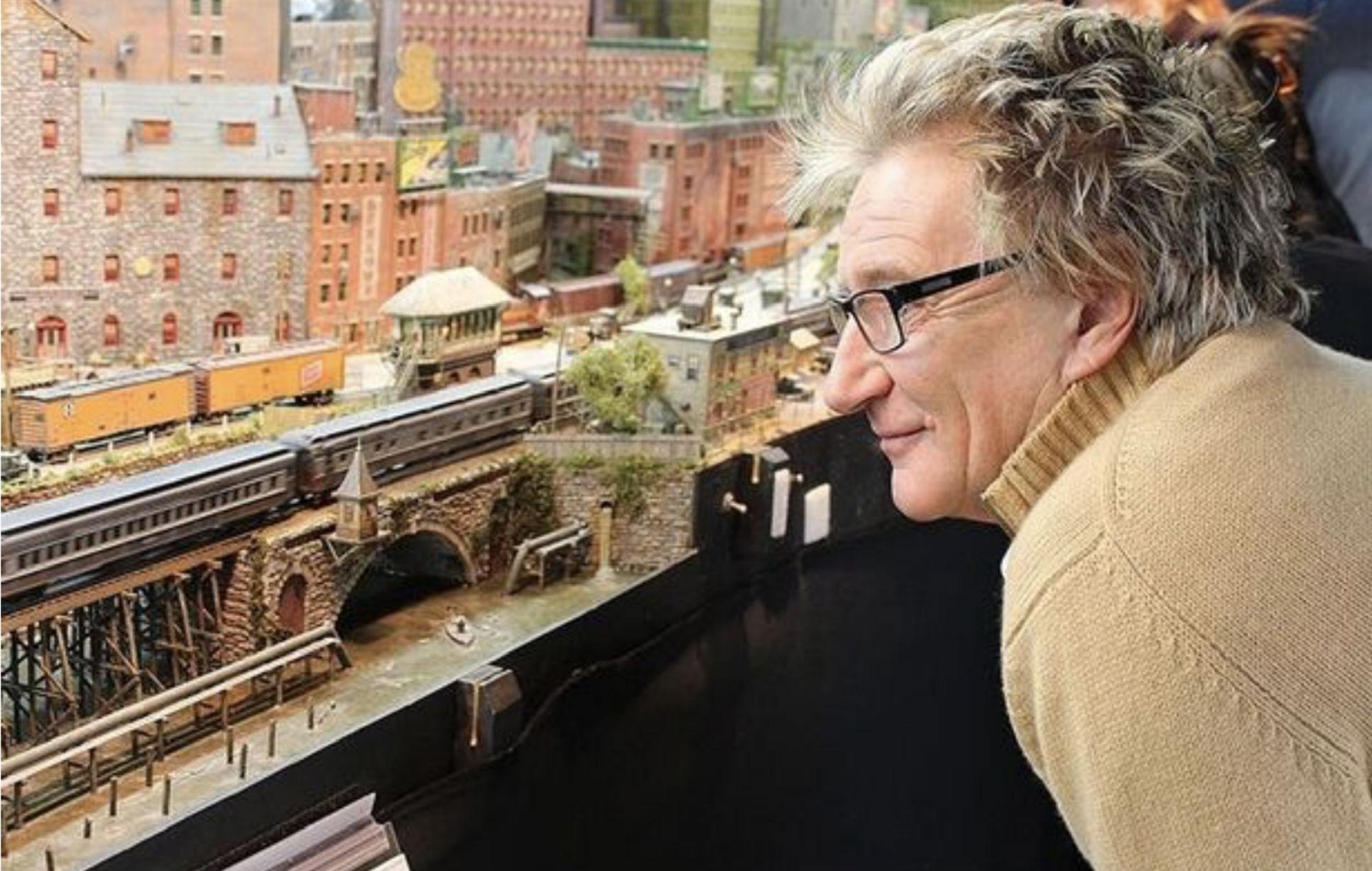 We are railing: Rod Stewart reveals he's spent 26 years making a huge model railway