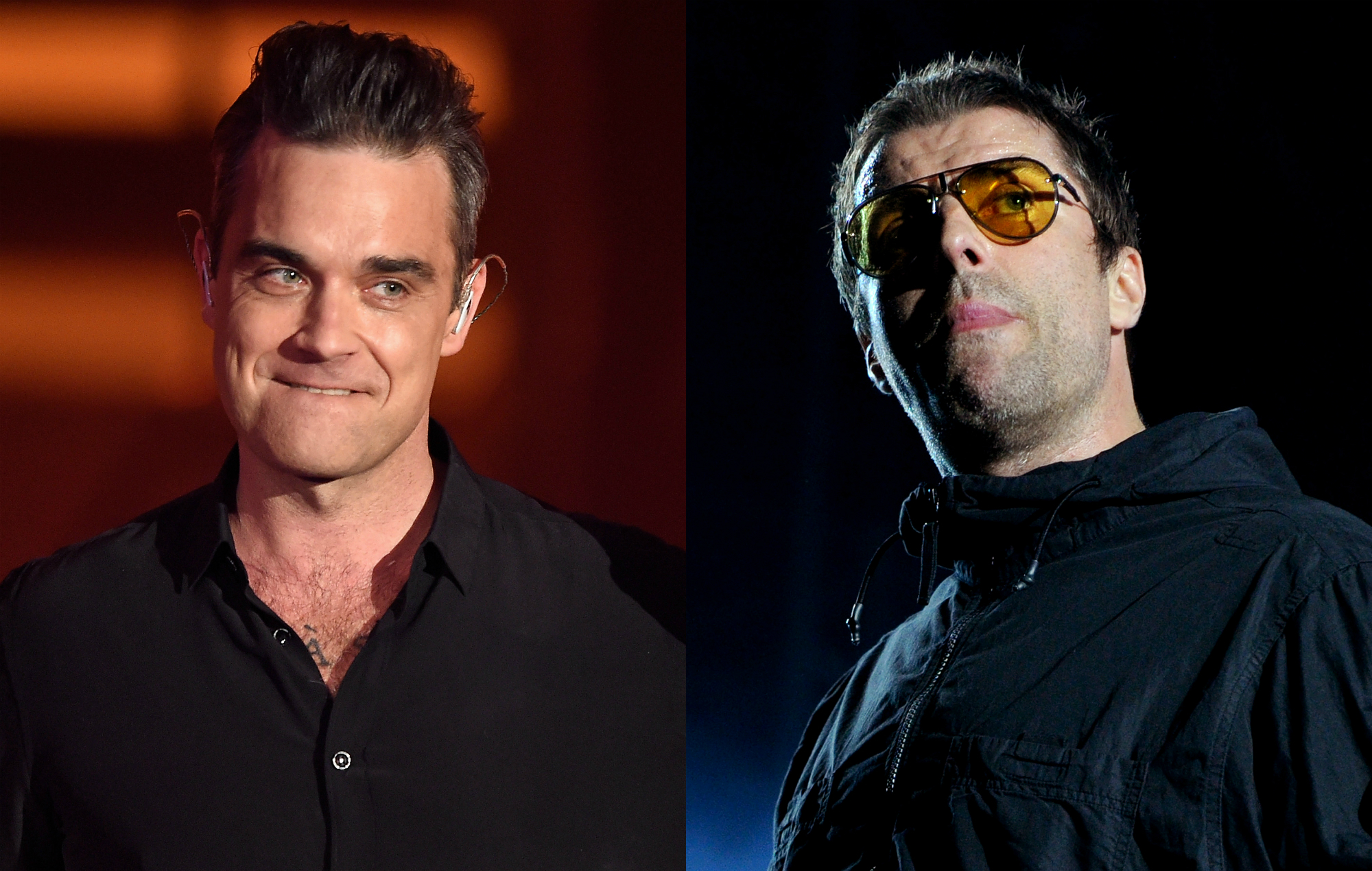 """Robbie Williams says he wants to fight """"school bully"""" Liam Gallagher"""
