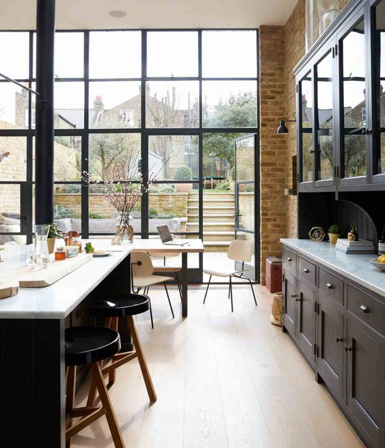 ... Modern Kitchen Islands (and Snazzy Upholstered Breakfast Bar Stools) To  Crittall Style Kitchen Extensions, 2018 Has Had No Shortage Of Super Cool  Trends ...