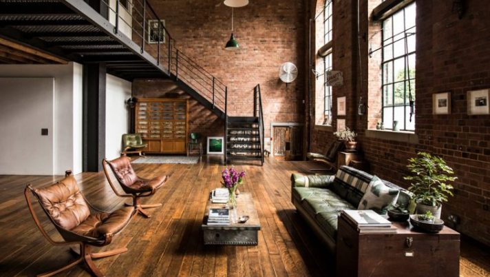 Explore this industrial-style factory conversion in Bow, east London